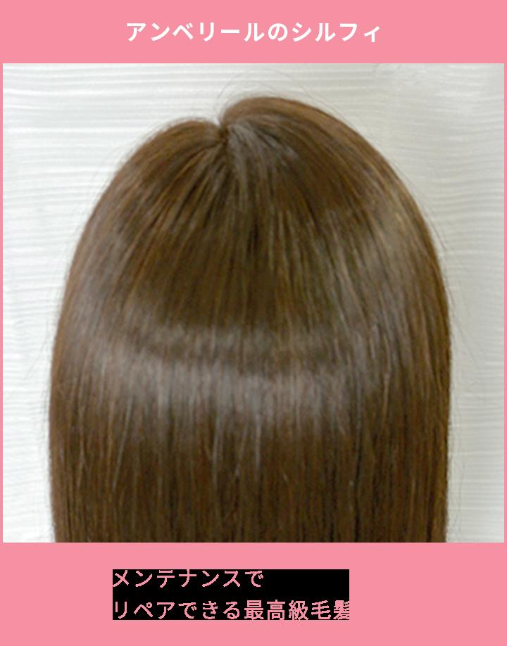 アンベリールのシルフィ メンテナンスでリペアできる最高級毛髪